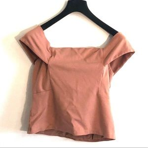[Deletta] Blush Off The Shoulders Blouse - Large